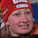 Tanja Poutiainen führt beim Slalom in Flachau