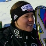 Viktoria Rebensburg führt beim Riesenslalom von St. Moritz
