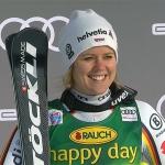 Viktoria Rebensburg übernimmt Führung beim Riesentorlauf von Courchevel