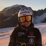 Vicky Rebensburg bereitet sich in Saas Fee auf Ski Weltcup Saison 2019/20 vor