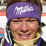 Maria Riesch mit Bestzeit beim 1. Abfahrtstraining von Val d'Isère