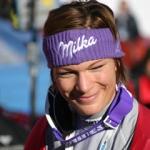 Maria Riesch mit Bestzeit beim 1. Abfahrtstraining in Cortina d'Ampezzo