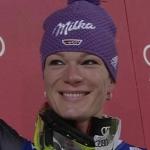 Höfl-Riesch beim Slalom in der Flachau (AUT) Zweite hinter Schild