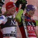 Maria Riesch und Tanja Poutiainen feiern Doppelsieg beim Slalom in Flachau