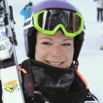 Maria Höfl-Riesch mit Bestzeit beim 1. Abfahrtstraining in Bansko