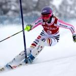 Maria Höfl-Riesch hat in Levi die Nase vorn – Südtirolerinnen schwach
