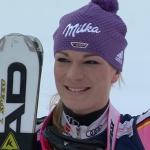 Maria Höfl-Riesch kürt sich bei der WM Super Kombination in Schladming zur Goldmarie