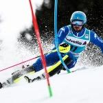 Hausherr Tommaso Sala hat beim Europacup-Slalom im Fassatal die Nase vorn