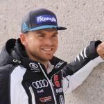 DSV Rennläufer Andreas Sander kann sich über Sieg beim Super-G von La Parva freuen.