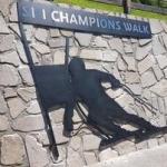 Saslong News: Ski Champions Walk in Wolkenstein