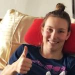 Nach OP: Christine Scheyer blickt bereits wieder optimistisch in die Zukunft