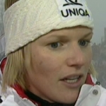 Marlies Schild führt beim Slalom von Zagreb