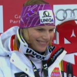 Marlies Schild führt nach dem 1. Durchgang beim WM Slalom der Damen in Garmisch Partenkirchen