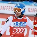 Marlies Schild führt nach dem 1. Durchgang beim Slalom von Aspen