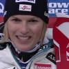 Marlies Schild liegt nach dem 1. Slalom Durchgang von Flachau in Führung.