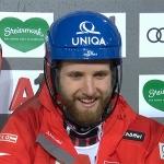 Marco Schwarz mit Bestzeit im ersten Slalom-Durchgang auf der Planai