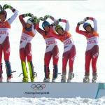 Gold im Alpine Team Event (Teambewerb) geht in die Schweiz