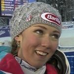 Mikaela Shiffrin führt nach dem ersten Lauf beim Weltcup-Slalom von Levi