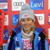 Mikaela Shiffrin liegt nach dem ersten Slalomdurchgang von Levi voran