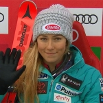 Mikaela Shiffrin gibt beim ersten Slalomdurchgang von Kranjska Gora klar das Tempo vor