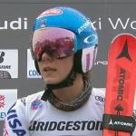 Hauchdünner Vorsprung für Mikaela Shiffrin nach dem ersten Slalomdurchgang in Courchevel