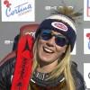 Mikaela Shiffrin feiert Super-G Sieg in Cortina d'Ampezzo