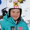 Ramona Siebenhofer in Jasna auf Europacup Podest