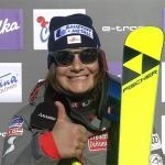 Ramona Siebenhofer feiert bei der Abfahrt in Cortina d'Ampezzo ihren ersten Weltcupsieg