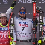 ÖSV-News: Matthias Mayer am Abfahrts-Podium in Kvitfjell