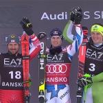 Marcel Hirscher freut sich über Platz zwei bei der Kombination in Bansko