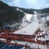 Über die alles andere als olympiawürdigen Zuschauerzahlen bei den Alpinen in Pyeongchang