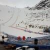 Der Wind am Rettenbachferner kennt kein Erbarmen mit Elena Curtoni und Co.