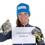 Federica Sosio verletzte sich bei der Abfahrt in Garmisch-Partenkirchen schwer