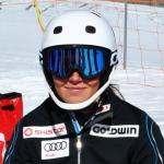 Ylva Stålnacke rast bei FIS-Slalom in Kåbdalis mit Startnummer 1 zum Sieg