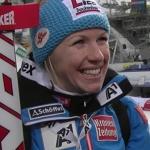 Trainingsweltmeisterin Regina Sterz mit Bestzeit beim 2. Abfahrtstraining in Meribel