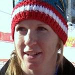 Regina Sterz startet für den ÖSV beim Olympia Super G Rennen