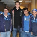 Peter Fill und Co. besuchen NBA-Star Danilo Gallinari