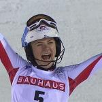ÖSV NEWS: Katharina Truppe freut sich über Platz 3 beim Slalom von Levi