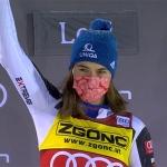Petra Vlhová gewinnt ersten Slalom von Levi am Samstag