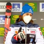 Petra Vlhová liegt beim Heim-Slalom in Jasná nach dem ersten Lauf in Führung