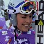 Lindesey Vonn gewinnt Superkombination in Val d' Isere