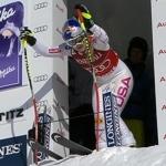 Lindsey Vonn liegt nach der Kombinationsabfahrt in St. Moritz in Führung