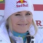 Lindsey Vonn führt nach dem 1. Durchgang beim Riesenslalom der Damen in Are