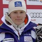 Veronika Zuzulova führt nach dem 1. Durchgang beim Slalom von Are.