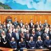 Schweizer Bundesrat und Ratspräsidenten empfangen Olympioniken im Bundeshaus