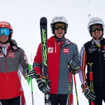 Roland Leitinger, Stefan Brennsteiner und Stefan Luitz trainieren in Saalbach